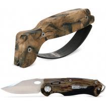 "AccuSharp Wheel Lock and Sharpener Combo - Camo - 2.5"" Blade with Camo Aluminum Handle - Includes Sharpener"