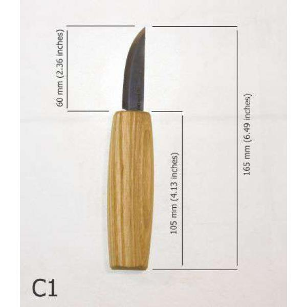 Beaver Craft C1 Small Whittling Wood Carving Knife with Ash Handle
