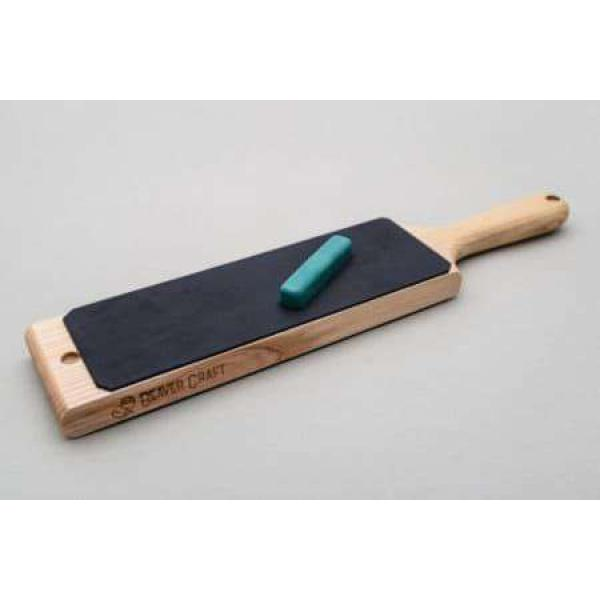 Beaver Craft Dual-Sided Leather Paddle Strop with P1 Polishing Compound