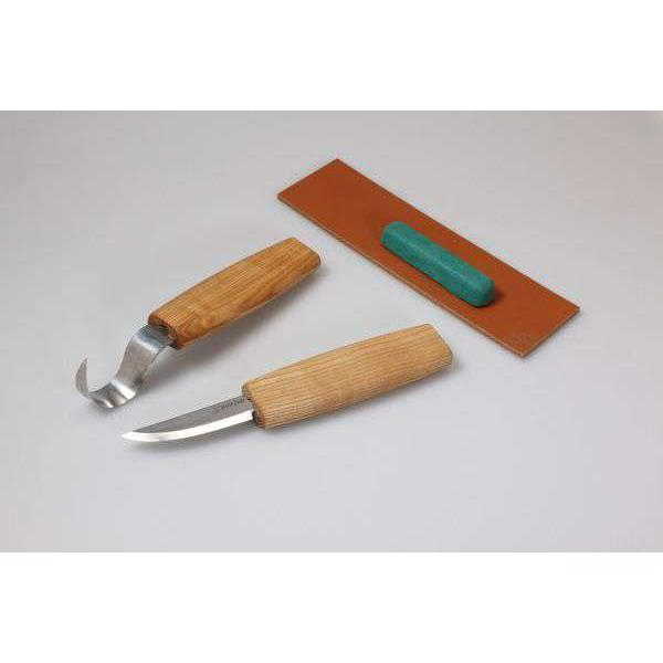 BeaverCraft S01 - 4 Piece Right Handed Spoon Wood Carving Tool Set