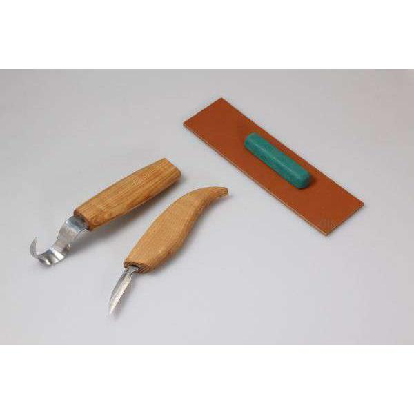 Beaver Craft S02 Spoon Wood Carving Tool Set with Detail Knife