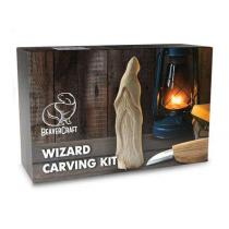 BeaverCraft Wizard Carving Kit – Include Knife, Wood and Strop - Complete Starter Whittling Kit