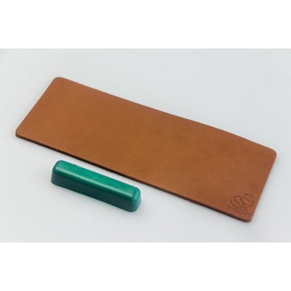 BeaverCraft LS2P1 - 200mm Leather Strop For Honing with Polishing Compound