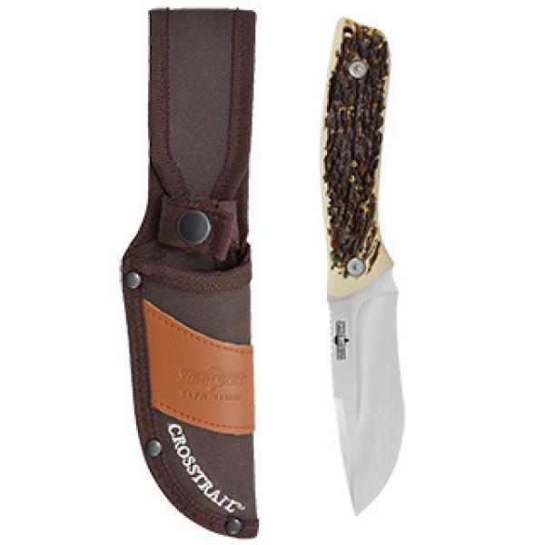 "Camillus Western Cross Trail 9"" Titanium Nitride Bonded Fixed Blade Knife"