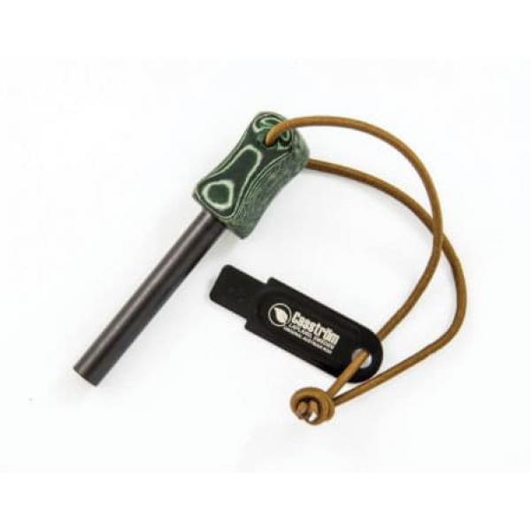 Casström Fire Striker Army - Green Micarta Handle