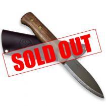 "Condor Bushlore Camp Knife 4-5/16"" Carbon Steel Satin Blade, Hardwood Handle, Leather Sheath"