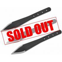 """Condor Dismissal Throwing Knife Set 7"""" Black Carbon Steel Blades"""