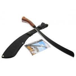 "Condor Parang Machete 17-1/2"" Carbon Steel Black Blade, Hardwood Handles, Leather Sheath"