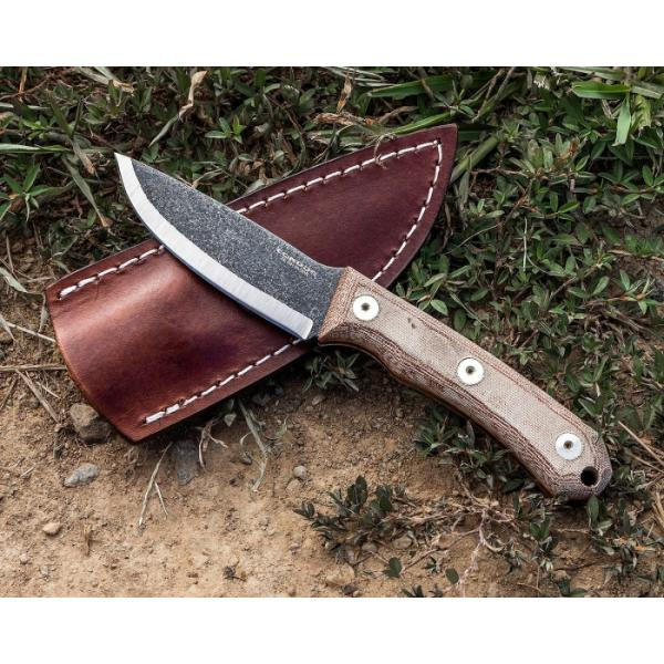 "Condor Knife and Tool Mountain Pass Camp Knife - 7"" Carbon Steel Blade - Micarta Handles"