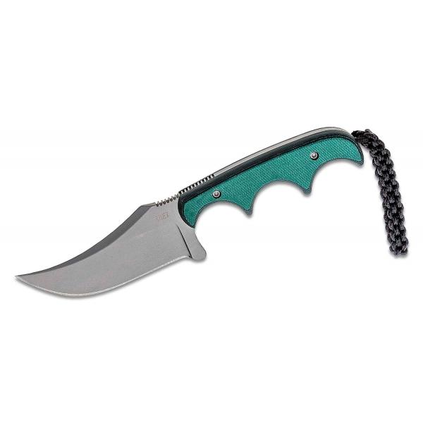 """CRKT 2379 Minimalist Persian Fixed Blade Neck Knife 2.76"""" Blade, Polished Resin Infused Fiber Handles, Thermoplastic Sheath"""