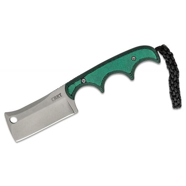 "CRKT 2383 Minimalist Cleaver Fixed Blade Neck Knife 2.131"" Blade, Resin Infused Fiber Handles, Polypropylene Sheath"