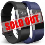 """Fitbit Charge 2 Strap 2 Pack - Small 5.5""""-6.9"""" - Black and Blue"""