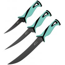 """Danco Roll Up Fishing Knife Kit Seafoam - 9"""" Stout, 7"""" and 5"""" Flexible Fillet Blades with Nylon Roll Up Carry Pouch"""