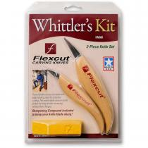 Flexcut 2 Piece Whittlers Knife Set with Sharpening Compound (KN300)