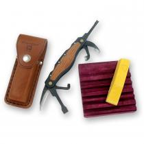 Flexcut Right Handed Carving Jack with Leather Sheath and Sharpening Compound (JKN91)
