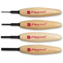 Flexcut MT100 Micro Tool Chisel Wood Carving Set - 4 Piece - MT11 MT12 MT13 MT14