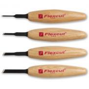 Flexcut MT200 Micro Tool Skew Wood Carving Set - 4 Piece - MT15 MT16 MT17 MT18