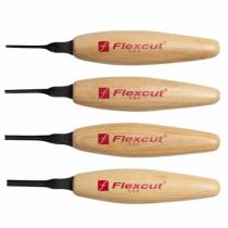 Flexcut MT400 Shallow U Gouge Micro Tool Wood Carving Set - 4 Piece - MT23 MT24 MT25 MT26