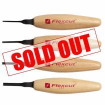 Flexcut MT300 Micro Sweep Tool Wood Carving Set - 4 Piece - MT19 MT20 MT21 MT225