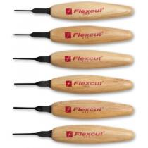 Flexcut MT910 6 Piece 1.5mm Mixed Profile Wood Carving Micro Tool Set