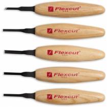 Flexcut MT930 5-Piece Micro Tool Wood Carving Set - MT16 MT21 MT29 MT33 MT41