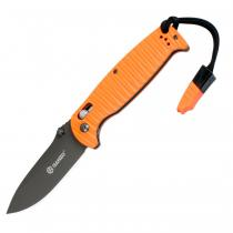 """Ganzo G7413P-WS Orange Folding Knife - 3.5"""" DP Black Blade"""