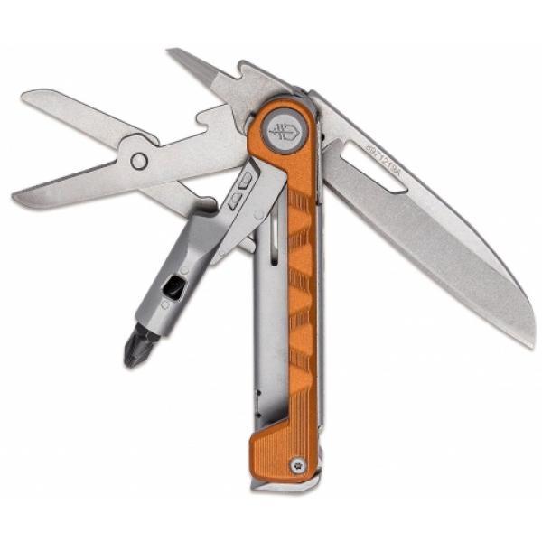 "Gerber Armbar Drive Multi-Function Folding Knife 2.5"" Plain Blade, Orange Handle"