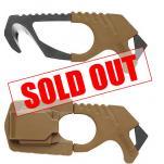 Gerber Strap Cutter - Brown - 420HC Steel - Rubber Grip -Glass Breaker