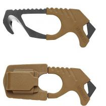 Gerber Strap Cutter - Brown - 420HC Steel - Rubber Grip -Glass Breaker