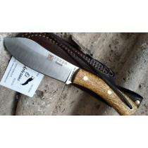 """Joker CL136 Nessmuk Knife with Birch Handle - 4.33"""" Blade with Leather Sheath"""