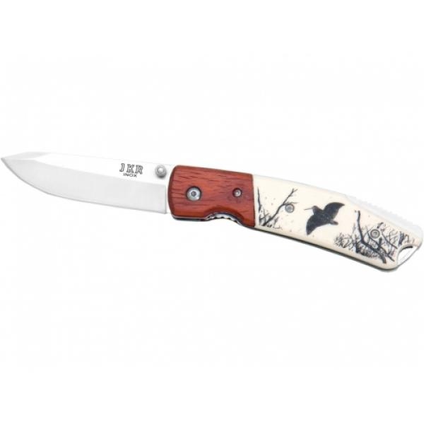 Joker JKR0367 Plastic Handle Woodcock Motif Folding Pocket Knife