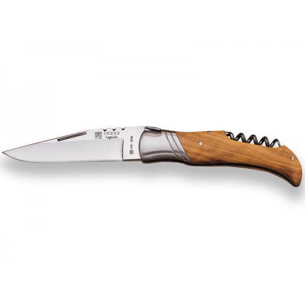 "Joker NO11 Folding Knife with Olive Wood Handle and Corkscrew - 3.74"" Blade - Olive Wood Handle"