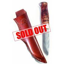 "Karesuando Lantalainen Damascus Thor Knife - 3.85 "" Blade - Reindeer Horn Handle"