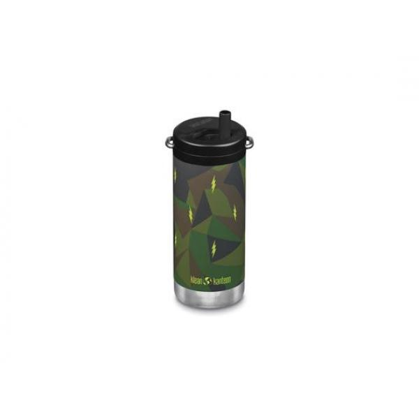 Klean Kanteen Insulated TKWide with Twist Cap - 355ml - Electric Camo - 11hrs Hot - 38hrs Iced