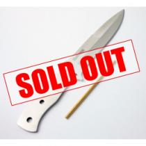 Knivegg Fir Knife Blade - Stainless Steel Full Tang Scandi Grind Blade