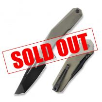 "Kubey Carve Liner Lock Tactical Folding Knife - 3.59"" Blade - Tan G10 Handle"