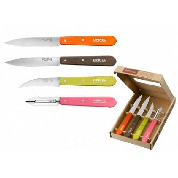 Opinel 50's Retro Coloured Kitchen Knife Set - 4 Piece