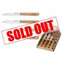 Opinel Beechwood Kitchen Knife Set - 4 Piece