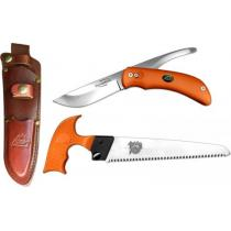 Outdoor Edge SwingBlaze-Pak, Rotating 2-Blade Knife and Saw Combo, Orange Handles