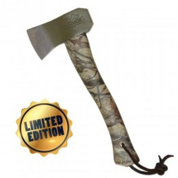 Prandi Camping Hatchet 500g Camouflage Carbon Steel Polished And Hardened Blade