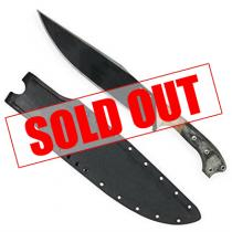 "Condor Atrox Knife 10.86"" 1075 Carbon Steel Black Blade, Micarta Handles, Custom Kydex Sheath"