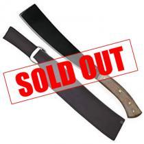 "Condor Cambodian Machete 10.38"" 1075 Carbon Steel Blade, Micarta Handles, Welted Leather Sheath"