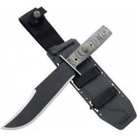 "Condor Operator Bowie Knife Fixed 7.5"" Carbon Steel Blade, Micarta Handles, Kydex Sheath"