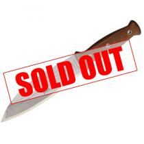 "Condor Primitive Bush Knife 8"" Blasted Satin Stainless Steel Blade, Hardwood Handle, Leather Sheath"