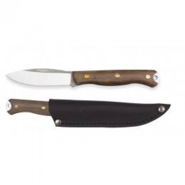 """Condor Scotia Knife 3.55"""" 1095 Carbon Steel Blade, Walnut Handles, Welted Leather Sheath"""
