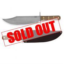 "Condor Undertaker Bowie Knife Fixed 10.125"" Carbon Steel Blade, Walnut Handles, Leather Sheath"