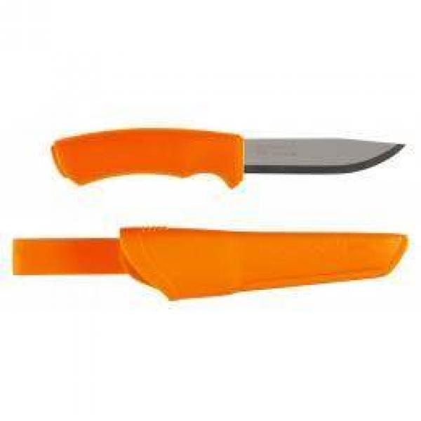 "Mora Bushcraft Orange Knife 4.3"" Stainless Steel Blade, Orange Rubber Handle"