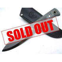 "Condor Bushlore Camp Knife 4-5/16"" Carbon Steel Satin Blade, Micarta Handle, Black Leather Sheath"