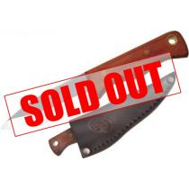 "Condor Mini Bushlore Camp Knife 3"" Carbon Steel Satin Blade, Hardwood Handles, Leather Sheath"