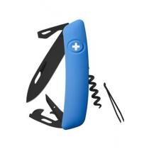 Swiza D03 Swiss Pocket Knife Multi-Tool Black Blade - Blue